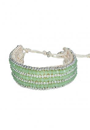 Boho Armband Carolin Light Green