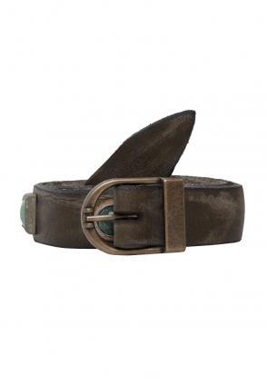 Vintage Ledergürtel Chiara olive schmal