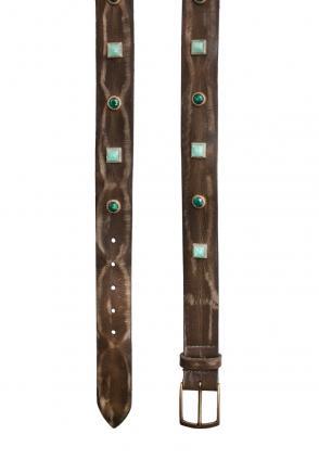 Vintage Ledergürtel Chiara olive