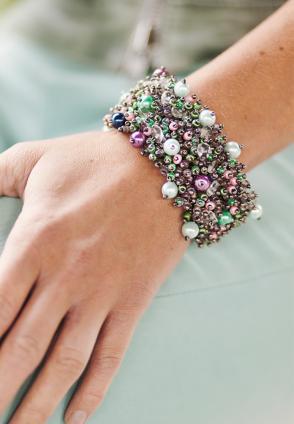 Boho Armband Ines winter pastels