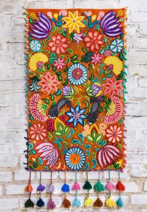 Wandteppich Las Flores I