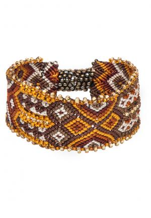 Ethno Armband Indian Knots brown