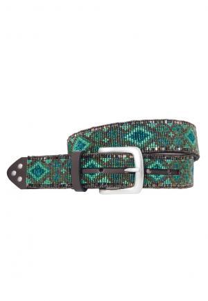 Ethno Perlengürtel Navajo green (85)