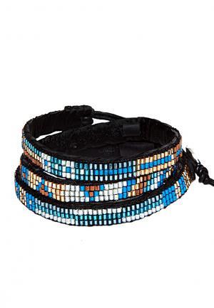 Ethno Armband Wrap Mia blau