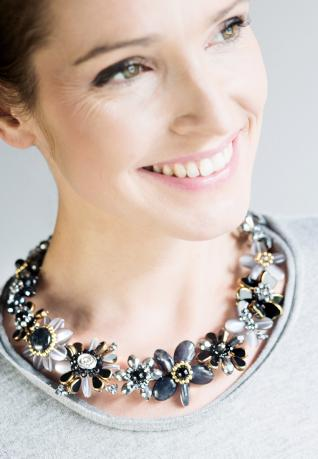 Vintage Collier Frida silver black
