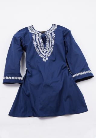 Ethno Tunika Shakti blau