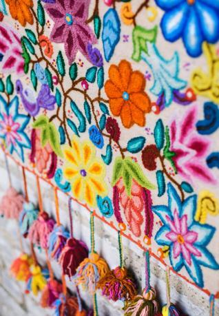 Wandteppich Las Flores II