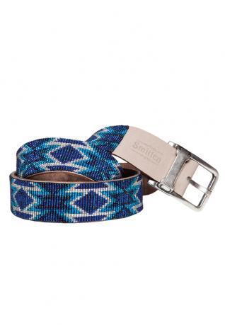 Perlengürtel Navajo blue