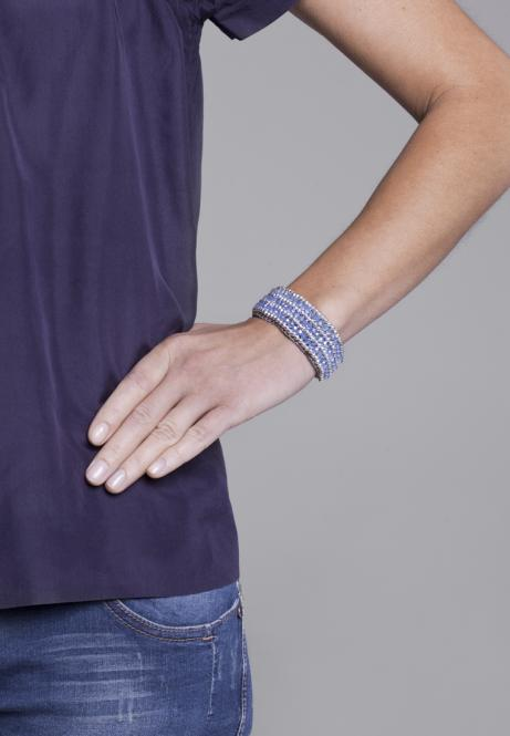 Boho Armband Carolin pastel aqua