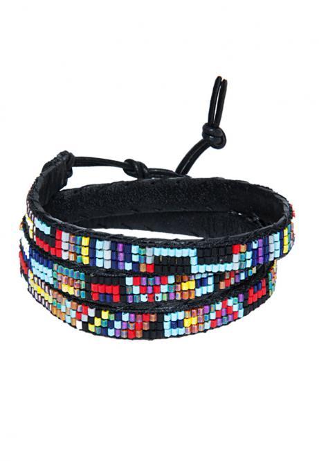 Ethno Armband Wrap Mia türkis